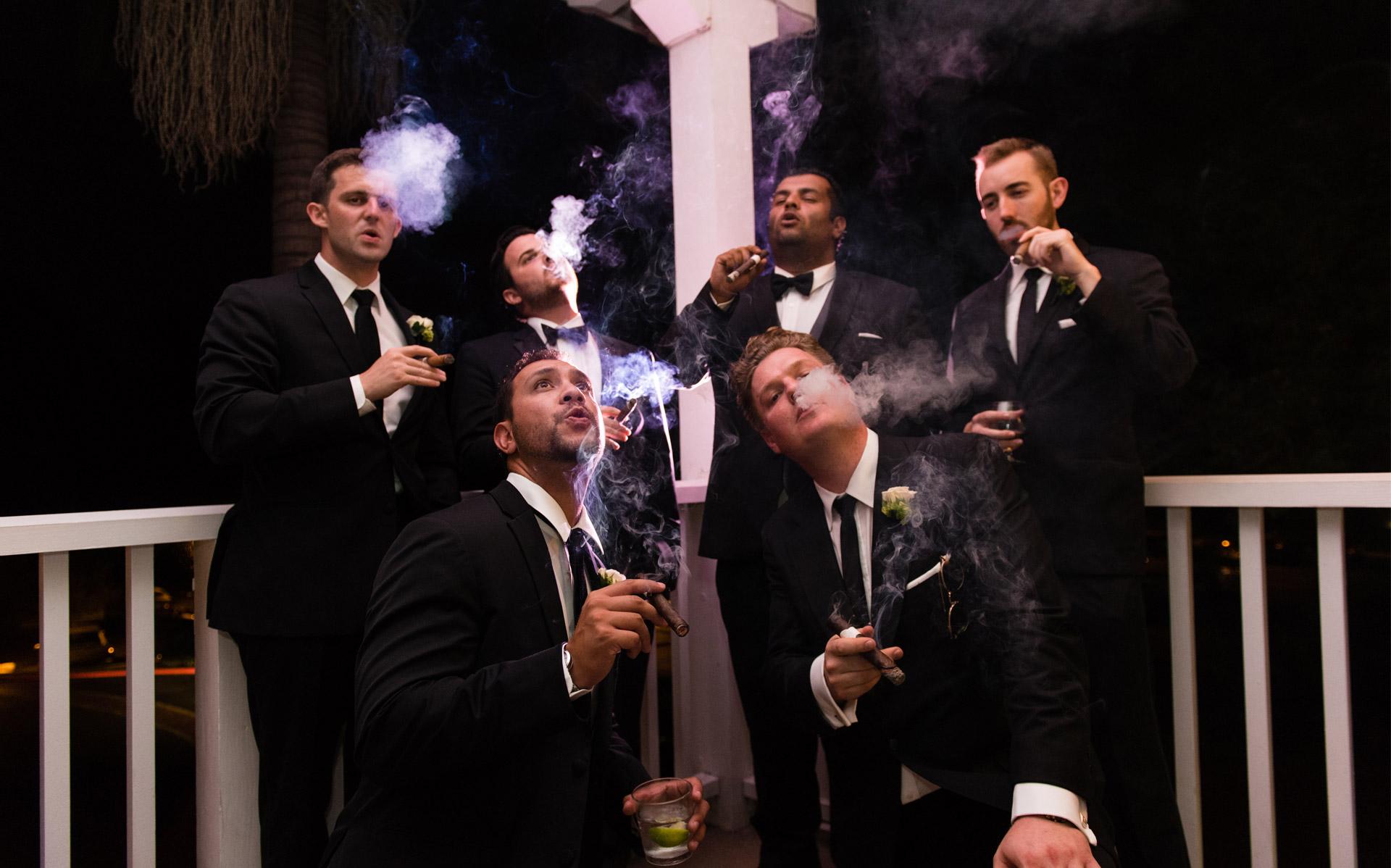 San Diego Wedding Photo Smoking
